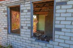 Huis zonder een dak Stock Foto