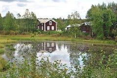 Huis in Zweden Stock Fotografie