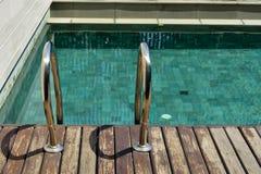 Huis zwembad Royalty-vrije Stock Afbeelding