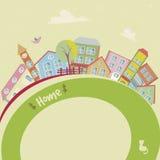Huisachtergrond 3 royalty-vrije illustratie