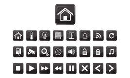 Huisautomatisering, de Slimme reeks van het huispictogram Stock Foto