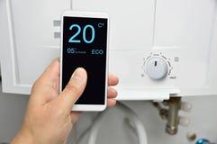 Huisautomatisering voor het verwarmen stock afbeelding