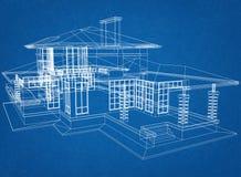 Huisblauwdruk vector illustratie