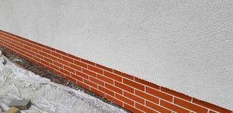Huisbouw facade stock afbeelding