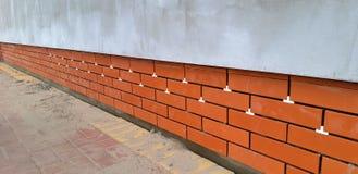 Huisbouw facade stock fotografie