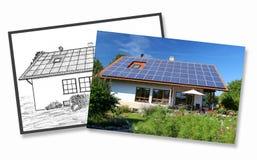 Huisbouw, planning en implementatie Royalty-vrije Stock Afbeeldingen