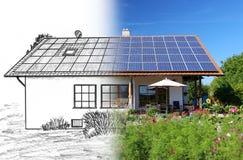 Huisbouw, planning en implementatie Royalty-vrije Stock Foto's