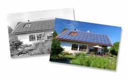 Huisbouw, planning en implementatie Stock Afbeelding