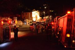 Huisbrand in Oakland Californië Royalty-vrije Stock Foto