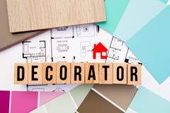Huisdecorateur - Binnenlands Ontwerp stock foto