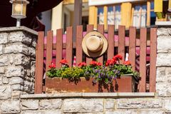 Huisdecoratie in een Oostenrijks dorp royalty-vrije stock fotografie