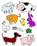 Huisdieren en landbouwbedrijf Royalty-vrije Stock Afbeeldingen