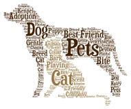 Huisdieren - Word wolkenillustratie royalty-vrije illustratie