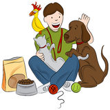 Huisdierenbabysitter vector illustratie
