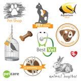 Huisdierenpictogrammen Stock Foto