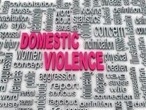 Huiselijk geweld Royalty-vrije Stock Afbeelding