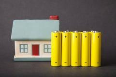 Huisenergieverbruik stock foto's