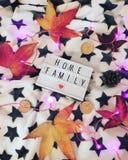 Huisfamilie royalty-vrije stock foto