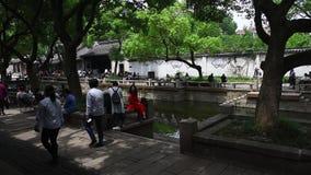 Huishan forntida stad, Wuxi, Jiangsu stock video