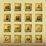 Huishoudapparaten i van de papyrus Stock Fotografie