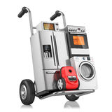 Huishoudapparaten op boodschappenwagentje Royalty-vrije Stock Fotografie