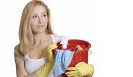 Huishoudelijk werk Stock Foto's