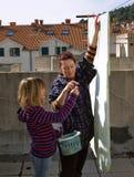 Huishoudelijk werk (wasserij) Stock Foto's