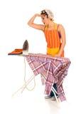 Huishouden, het strijken Stock Afbeelding