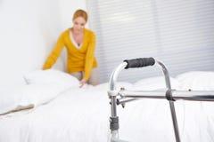 Huishouden in verpleeghuis royalty-vrije stock foto's