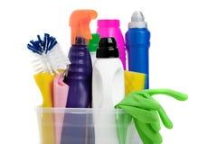 Huishoudenchemische producten Stock Afbeeldingen