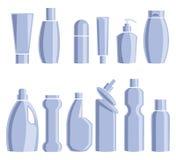Huishoudenchemische producten Vector illustratie Royalty-vrije Stock Afbeelding