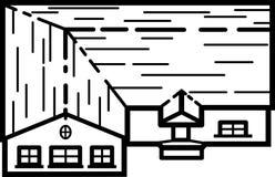 Huisillustratie 01 - Schone Lijnen Stock Foto