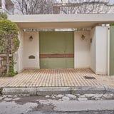 Huisingang, Athene Griekenland Stock Fotografie