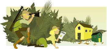 Huisjagers vector illustratie