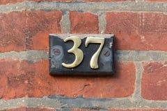 Huisnummer 37 Royalty-vrije Stock Foto's