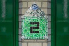 Huisnummer 2 royalty-vrije stock afbeelding
