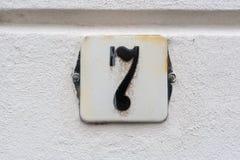Huisnummer 7 stock afbeelding