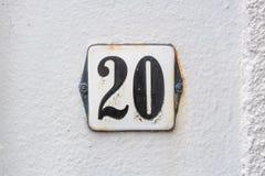 Huisnummer 20 royalty-vrije stock afbeeldingen