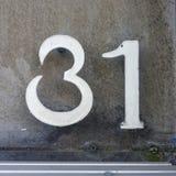 Huisnummer 31 stock afbeelding