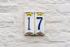 Huisnummer 17 royalty-vrije stock afbeelding