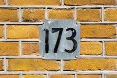Huisnummer 173 royalty-vrije stock foto