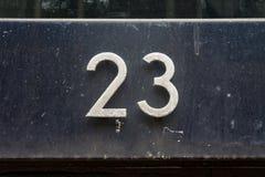 Huisnummer 23 royalty-vrije stock afbeeldingen