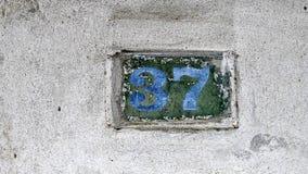 Huisnummer 37 Royalty-vrije Stock Afbeeldingen