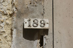 Huisnummer Stock Fotografie