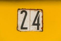 Huisnummer 24 Stock Afbeelding