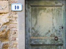 Huisnummer 10 teken Royalty-vrije Stock Afbeeldingen