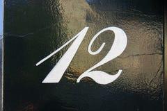 Huisnummer twaalf 12 stock fotografie