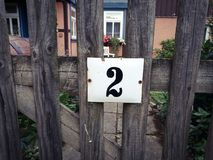 Huisnummer twee Stock Afbeelding