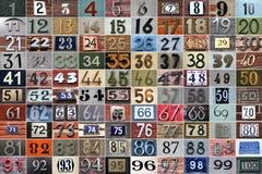 100 huisnummers royalty-vrije stock foto's