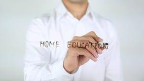 Huisonderwijs, Zakenman Writing op Glas stock foto's